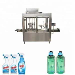 304 Paslanmaz Çelik Plastik Şişe Dolum Ve Kapak Makinesi