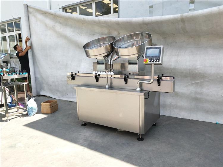 Otomatik paslanmaz çelik hap kapsül tabletleri sayma dolum makinası 2
