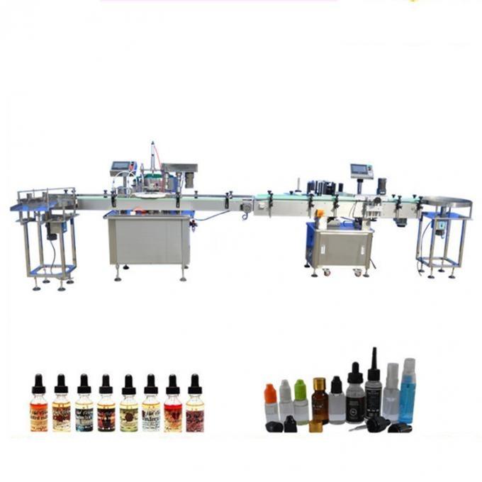 Cam Damlalık için PLC Kontrol Elektronik Sıvı Dolum Makinesi